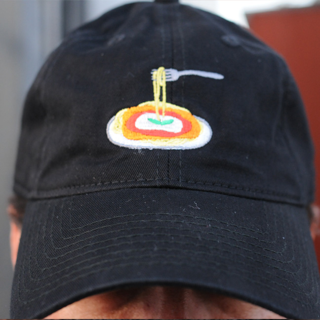 Chicken Parm Hat (Front) - Black