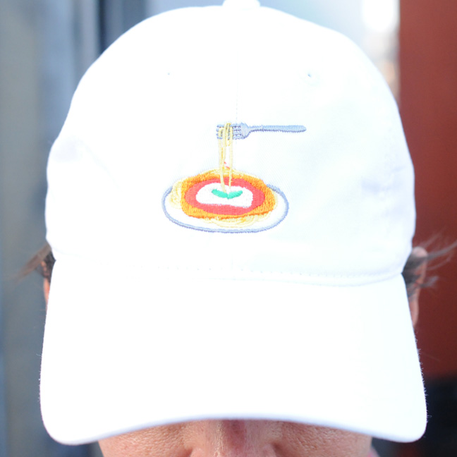 Chicken Parm Hat (Front) - White